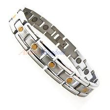 Accents Kingdom Men'S 2 Tone Screw Magnetic Titanium Golf Bracelet T24