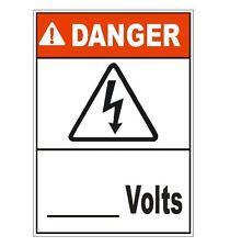 Danger High Voltage Sticker D1554 Electrical Safety Sign