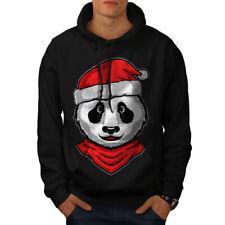 Sudadera con capucha hombres Panda Navidad Nueva | wellcoda