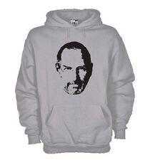 Felpa KJ207 Steve Jobs Steve Jobs,  Felpa cappuccio 80/20 cotone poliestere uomo