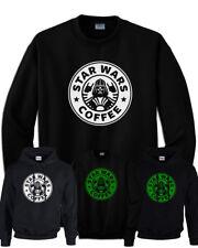 Felpa STAR WARS starbucks coffee imperial nera con cappuccio senza cappuccio