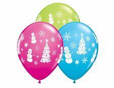 Festive Winter Scene Latex Balloons Christmas Party Decor School Retail Display