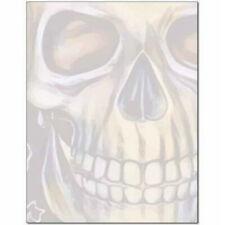 Grinning Skull Spooky Halloween Letterhead - 25 or 100pk
