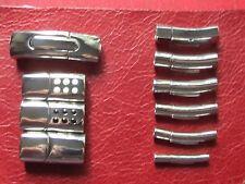 316 L ganci di ACCIAIO INOX PER PELLE E CORDE DI BLOCCAGGIO & Magnetico 6 mm A 2 mm