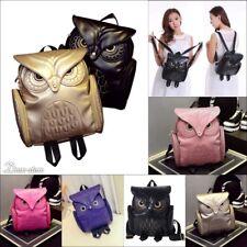 New Fashion Women Backpack 2019 Newest Stylish Leather Owl shoulder bag girls
