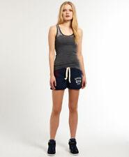 New Womens Superdry SD Gym Hockey Shorts Sophomore Navy