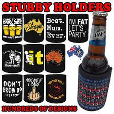 PREMIUM STUBBY HOLDER funny Beer Tin Bottle Can Cooler Present Birthday Gift