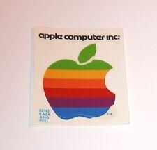2 Old Rainbow Apple Computer Logo Stickers - NEW