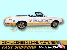 1972 Oldsmobile Cutlass Hurst/Olds Indy 500 Pace Car Door Decals Kit