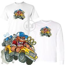 Crazy Redneck Pickup Truck & Dog Funny Graphic Short / Long Sleeve T Shirt S-3X