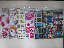 Giftwrap 2 Envoltorio De Regalo Y 2 Etiquetas Hojas Cumpleaños ocasión Estilo Niño Niña Hombre Mujer