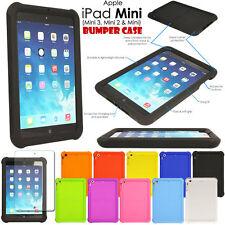 Shock Protective Tough Rugged Rubber BUMPER Case for Apple iPad Mini, Mini 2 & 3