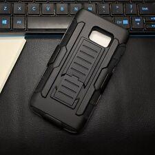 ARMOR Millitary Tough Kickstand Clip Case Samsung Galaxy Note 3 4 5 8 + GLASS