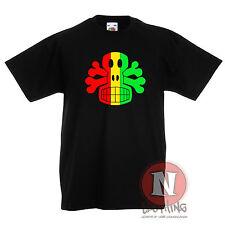 rasta Crâne Et Tête de mort Reggae Dubstep Musique enfants T-shirt 3-13 An