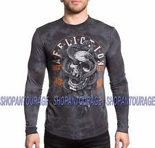 AFFLICTION Manitoba A18168 New Men`s Black Long Sleeve T-shirt
