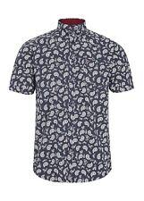 Para Hombre Merc London todo patrón de Paisley Mod Camisa de Moda Alfa-Negro