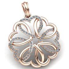 Natural 2ct Round Cut Diamond Ladies Bunch of Heart Pendant 18K Gold