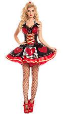 Sexy Party King Wonderland Queen Of Hearts Sequin Bustier Dress Costume PK748