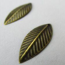 Leaf Charms - Wholesale Antique Bronze Pendants C4576 - 50, 100 Or 200PCs