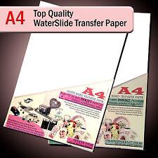 Water Slide Decal Paper - WaterSlide Transfer Paper - A4 Inkjet - Clear / White