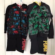 PUMA NWT Boys 3PC Sweat Suit Shirt Tee Top Pants Warm Up Hoodie Sweatshirt 4 5 6