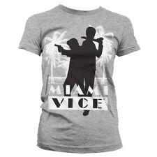 Licenza Ufficiale Miami Vice silhuettes Donna T-Shirt Taglie S-XXL