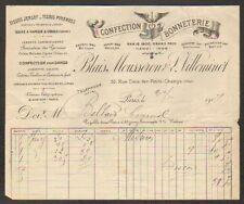 """PARIS (I°) USINE de BONNETERIE & LINGERIE """"BLAIS MOUSSERON & VILLEMINOT"""" 1901"""