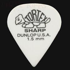 Dunlop Tortex Sharp Guitar Picks Plectrums 1.50mm White - 6 10 12 20 24 or 36