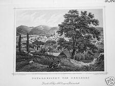 Herzberg Niedersachsen  echter  alter  Stahlstich 1858