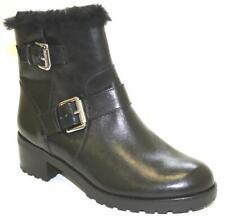 Women's Shoes Michael Kors GRETCHEN BOOTIE Sheep Fur Lining Buckle Leather BLACK
