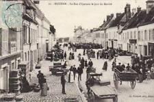 78 - cpa - HOUDAN - Rue d'Epernon le jour de marché