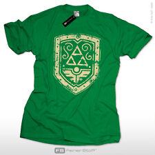Ancient Shield T-shirt for Super Retrò gamers, TRIFORCE Zelda FAN COSPLAY Mario