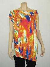 Brave by Wayne Cooper Ladies Sleeveless Top size XSmall Small Medium Multi Print