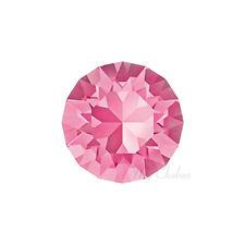 Swarovski 1088 XIRIUS chaton round pointed back crystal rhinestone pink ROSE 209