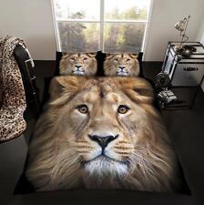 Diseño de León León en 3D Transvaal Funda De Edredón Juego De Cama Individual Doble King
