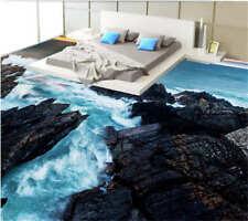 Many White Spray 3D Floor Mural Photo Flooring Wallpaper Home Print Decoration