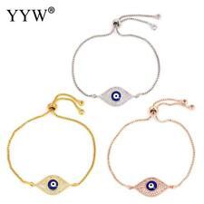Women's Fashion Jewelry Designer Rose Gold Silver Evil Eye Bracelet Turkish 61-6