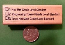 Grade Level Standard Evaluation 123 Teacher's Rubber Stamp