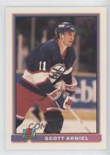 1991-92 Bowman #206 Scott Arniel Winnipeg Jets Hockey Card