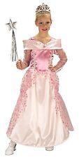 Pink Princess Costume Halloween Fancy Dress Gown Girls Kids Childs S M L NEW