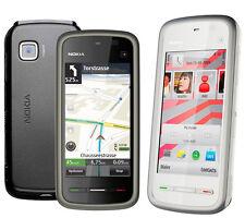 Unlocked Nokia XpressMusic 5230 Black/ White Touchscreen Mobile Bar Cell Phone
