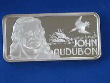 1975 John Audubon Hamilton Mint Silver Art Bar .999 fine 1 troy ounce B1163