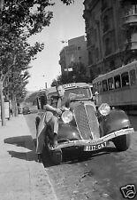 Voiture Taxi Renault Mattei Lampes Visseaux - Repro Photo ancienne - poster