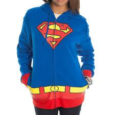 Official DC Comics Supergirl Logo Juniors Zipper-Fleece Hoody Hooded Sweatshirt