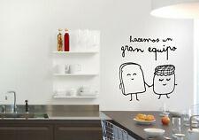 Vinilo decorativo pegatinas pared hacemos un gran equipo stickers decoración