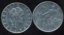 ITALIE   ITALY  50 lire 1977  ( bis )