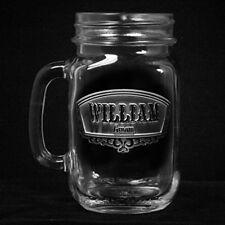 Wedding Mason Jar Mugs, Groomsmen Gift Ideas, Engraved Favors, SET OF 4