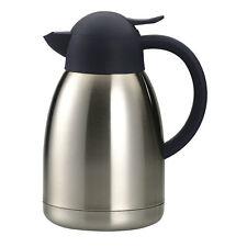 Isolierkanne Edelstahl 1 & 1,5 L mit Glas Kaffekanne Teekanne Thermoskanne