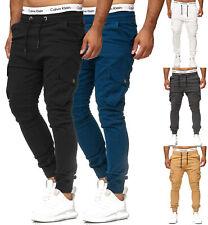 Herren Chino Jogg Jogger Jeans Skinny Fit Cargo Stretch W29-W38