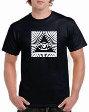 indio TERCERA Ojos Shiva Pecho Camiseta Con Logo Algodón hindú budista Moda